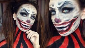 scary clown makeup tutorial melania yaneva