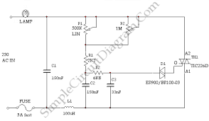 simple light dimmer diagram wiring diagrams value high power ac light dimmer simple circuit diagram high power ac light dimmer