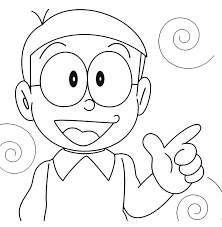 I believe that, that doraemon characters and other coloring pages can help to build motor skills of your kid. Doraemon Nobita Pointing With Hand