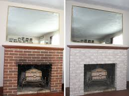 image of painting fireplace remodel before and after