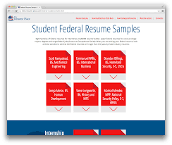 Introducing The Student Federal Resume Sample Database The