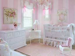 image of pink chandelier for nursery