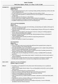 Housekeeping Resume Examples Prettier Housekeeper Resume