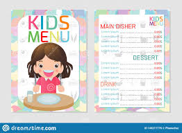 Disher Design Careers Cute Colorful Kids Meal Menu Template Design Kids