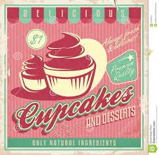 Cupcake Poster Design Vintage Food Photography Cupcakes Vintage Poster Design On