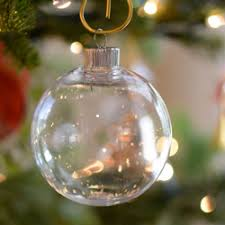 Clear oval ornament Clear ball ornaments