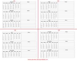 Calendar Year Quarters 2019 Quarterly Calendar Quarterly Calendar 2019 Calendar