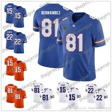 2018 ncaa florida gators college jersey 15 tim tebow 22 emmitt smith 81 aaron hernandez white orange royal blue stitched jerseys s 3xl from