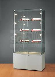glass display cabinet contemporary display case glass illuminated commercial glass display cabinet for collectibles