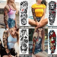 1pc Unisex Cool Longlasting Fashion Design Body Art Waterproof Temporary Tattoo Sticker Arm Leg Tattoo