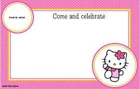 Hello Kitty Free Printable Birthday Party Invitation Personalized