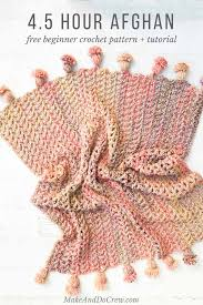 Quick And Easy Crochet Patterns Custom Presto 4848 Hour Afghan Free Fast Crochet Blanket Pattern