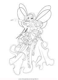 Disegno Winxfata Bloom Sirenix Personaggio Cartone Animato Da Colorare