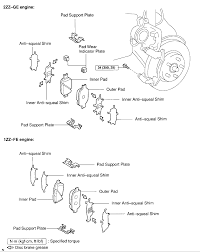 brake pad comparison gt vs gts diagram celica hobby diagram brake pad comparison gtgts gif
