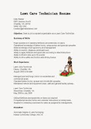 Sample Resume For Lawn Care Maintenance Resume Samples Lawn Care