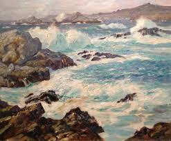 glorious pacific carmel highlands oil on canvas 20 x 24