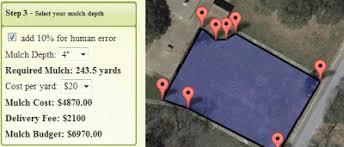 Maps Mania The Google Map Mulch Calculator