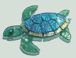 sea turtle mosaic pattern glass baby secret garden mixed stained lamp