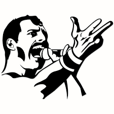 Free freddie vector, for personal use only. Freddie Mercury Svg Queen Designs
