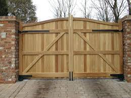 trendy ideas of outdoor wood gates designs fetching design featuring brown natural color wooden and double