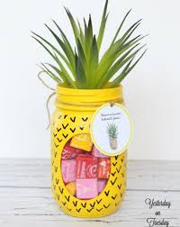 pineapple candy jar easy and fun summer crafts diy projects