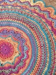 Free Crochet Mandala Pattern Adorable Crochet Mandala Rug Pattern Artistic DIY Ideas Video Tutorial