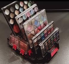 woman creates bad makeup displays out of legos