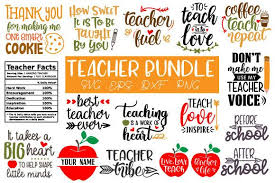 Available in png and vector. Teacher Bundle Graphic By Craft Pixel Perfect Creative Fabrica In 2020 Svg Free Teacher Teacher Quotes
