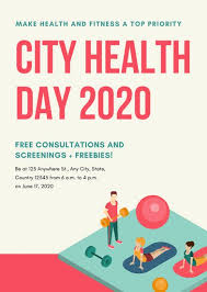 Health Fair Flyers Colorful Illustrated Health Fair Flyer Templates By Canva