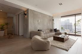 Of Painted Living Room Walls Contemporary Apartment In Taiwan By Fertility Design 3
