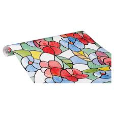 d c fix stained glass self adhesive vinyl window flower design 346 0117 rona