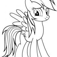 Free Rainbow Dash Coloring Pages Murderthestout
