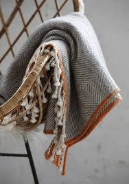 Orange And Gray Throw Blanket
