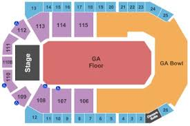 1stbank Center Tickets And 1stbank Center Seating Chart