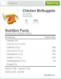 en nuggets nutrition facts ruidai inside mcdonalds en nuggets food label