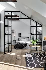 Modern Interior Design Blog Attic Apartment With Industrial Glass Wall Follow Gravity Home