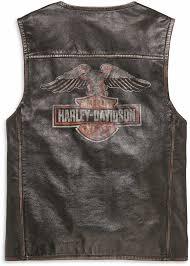 h d motorclothes harley davidson leather vest eagle distressed 98078 19vm