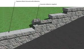 retaining wall capstones cornerstone retaining wall block installation on base elevation change retaining wall capstone glue retaining wall capstones