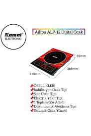 Ailipu Aılıpu Alp-12 Tek Gözlü Dokunmatik Elektrikli Indiksiyon Ocak  Fiyatı, Yorumları - TRENDYOL