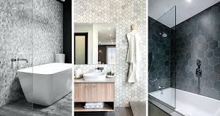 hexagon shower tile white floor bathroom ideas grey tiles
