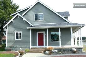 red door grey house. Gray House White Trim Yellow Door Gallery Of Top Red Grey With Bright Roof A