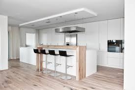Moderne Küche Kochinsel Weiß Matt Holz Theke Kappa Armony Wohn