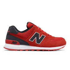 new balance shoes red and black. new balance 574 reflective men\u0027s classic shoes - red with black and c