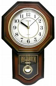 pendulum wood wall clock schoolhouse westminster chime modern antique vintage