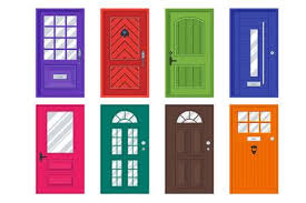 doors clipart. Unique Clipart Set Of Detailed Front Doors For Private House Or Building Interior  Exterior Home Entrance Decoration Throughout Doors Clipart