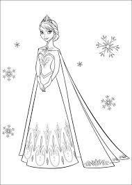 Prinses Elsa In Jurk Kleurplaat