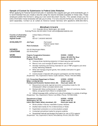 Transform Help With Federal Resumes On Federal Resume Examples