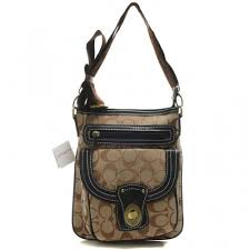 Coach Willis Lock In Signature Small Khaki Crossbody Bags BEK