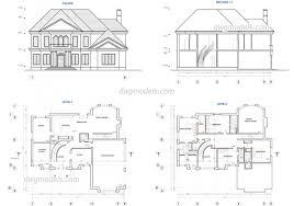 wonderful two story house plans dwg free cad blocks house plans free