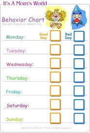 Blank Chart Template Good Behaviour Chart Free Template Printable Behavior Horneburg Info